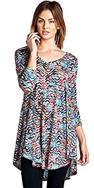 Popana Print Tunic Top – Made In USA