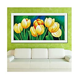 5D DIY Diamond Painting Sweet Perfumes Are Diffused All Around Tulip Diamond Paste Cross Stitch Bedroom