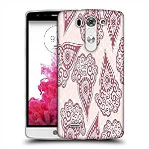 Snoogg Maroon Pattern Designer Protective Phone Back Case Cover For LG G3 BEAT STYLUS
