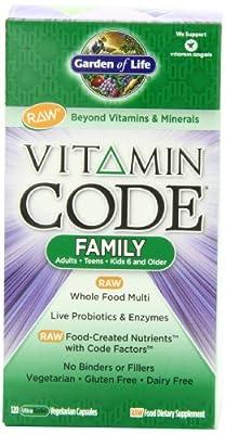 Garden of Life Vitamin Code Family Multi, 120 Capsules