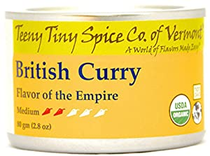 Teeny Tiny Spice Co. of Vermont Organic British Curry, Flavor of the Empire, Medium, 2.8 Oz