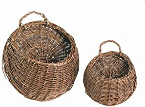 Bulk Buy Darice DIY Crafts Willow Wall Basket Brown 8 x 13 inches 6-Pack 2832-88