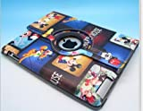 Mickey Disney Rotating Smart Cover Magnetic Leather Swivel Case Cover 360 Degree Stand for Ipad 2-orange