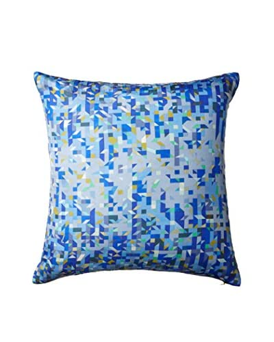Nitin Goyal London Pixelated Triangles Silk Throw Pillow