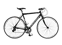 Viking Men's Treviso 700 C 16 SPD STI Flat Bar Road Bike - Black, 56 cm from Viking
