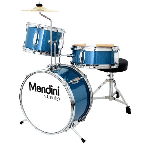 mendini-by-cecilio-13-inch-3-piece-kids-junior-drum-set-with-adjustable-throne-cymbal-pedal-drumstic