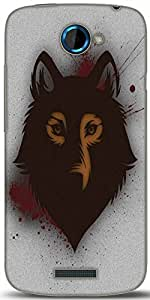 Snoogg Bold Wolf Designer Protective Back Case Cover For HTC One S