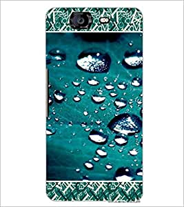 PrintDhaba Droplets D-4689 Back Case Cover for MICROMAX A350 CANVAS KNIGHT (Multi-Coloured)