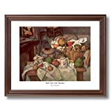 Paul Cezanne Country Fruit Flowers French Home Decor Wall Picture Cherry Framed Art Print