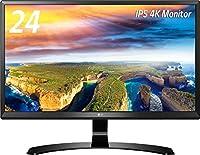 LG 24UD58-Bディスプレイ・モニター 4K 23.8インチ/IPS 非光沢/ブラック/HDCP2.2対応/HDMI2.0×2