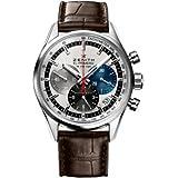Zenith El Primero 36000 VPH Slver Dial Brown leather Mens Watch 03.2150.400/69.C713 (Color: Brown)