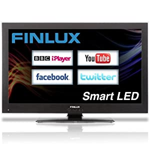 Finlux 40 Inch Smart DLNA Full HD 1080p LED TV Freeview HD Widescreen PVR Black - 40F8030-T