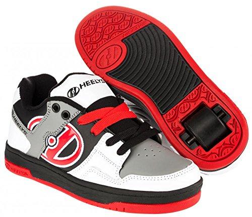 Heelys Flow White/Black/Grey/Red, Schuhgröße:38