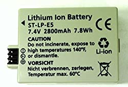 Replacement Battery Canon LP-E5 for EOS 450D, 500D, 1000D, Rebel XS XSi T1i