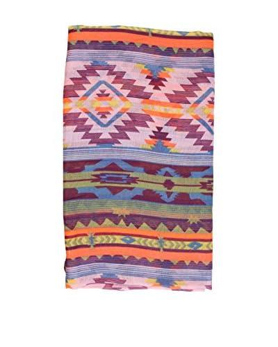 Alibey Fular de dibujo étnico y colores fluor Morado