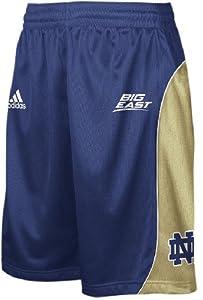 Adidas Notre Dame Fighting Irish 09 10 Blue 10? Inseam Screen-Printed Replica... by adidas