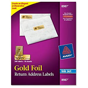 Amazoncom avery foil mailing labels 3 4 x 2 1 4 gold for 2 x 3 mailing labels