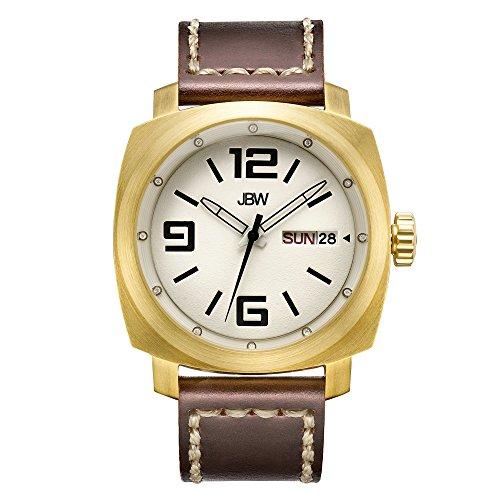 JBW Diamante Hombre Acero Inoxidable Reloj Fleet-Gold