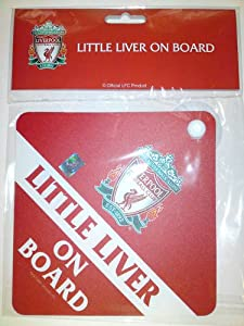 Official Liverpool Fc Little Liver On Board Car Sign by FOOTBALL MANIA LTD