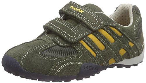 geox-jr-snake-boy-b-jungen-sneakers-grun-military-yellowc0099-35-eu