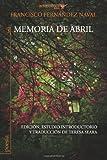 img - for Memoria de abril (Spanish Edition) book / textbook / text book