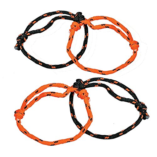 Fun Express Halloween Orange and Black Nylon Friendship Rope Bracelets - 12 pieces