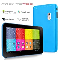 7 Inch Dual Core 1.2GHz Android 4.2.2 ProntoTec Tablet PC, Dual Camera(Blue) by ProntoTec
