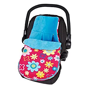 Clair de Lune Fun & Funky Car Seat Footmuff, Flower