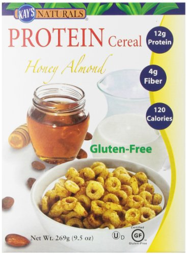 Kay'S Naturals Gluten Free Protein Honey Almond Cereal, 9.5-Ounce Boxes (Pack Of 6)