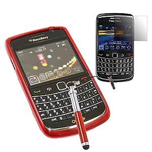 Amazon.com: iTALKonline BlackBerry 9700 Bold, 9780 Onyx Red TPU S Line
