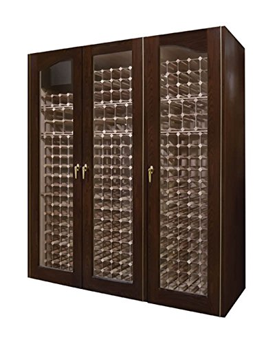 Vinotemp Cocktail Storing Accessories Provincial 900-Model White Oak Wine Cabinet With 3 Glass Doors