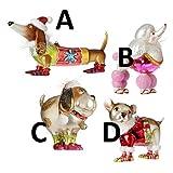 RAZ Imports - Multicolored Glass Dog Ornaments - A