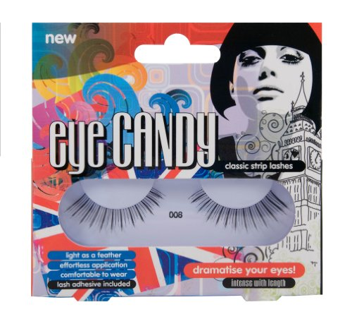 Eye Candy Strip Lashes 008 Dramatise 60's Look Natural False Lashes