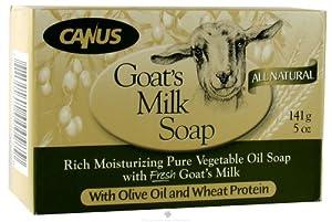Canus Goats Milk Body Care Olive Oil Bar Soap 5 Ounce