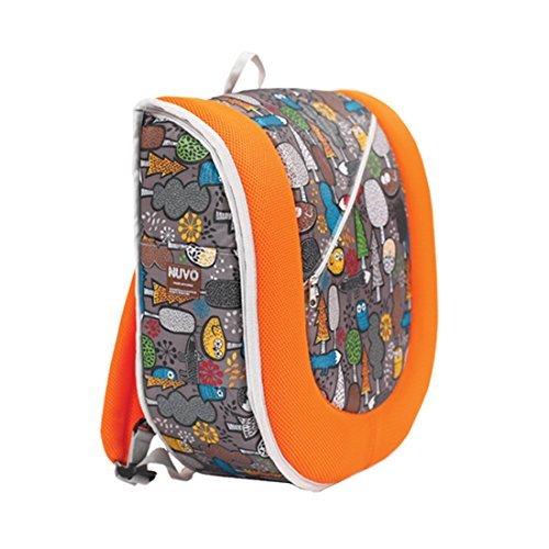 Portable Baby Sleeper Snuggle Nest Bed Diaper And Travel Bag Backpack Type-Orange Wood