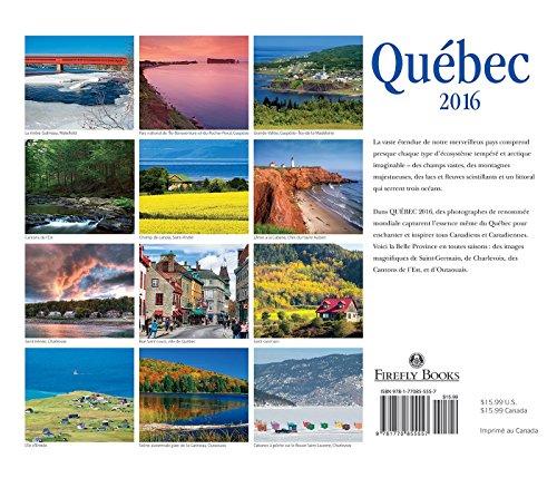 Quebec 2016 Calendar