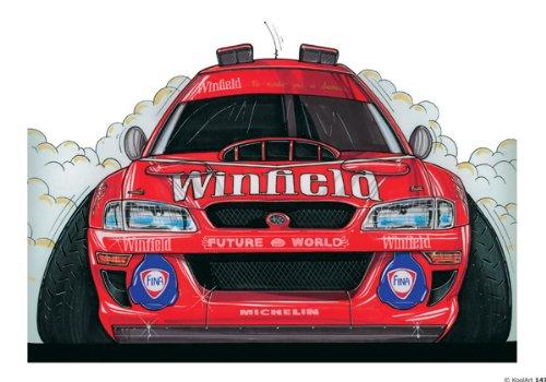 147-subaru-wrc-98-rouge-winfield-donnera-koolart-0147-personnalise-10-x-75-glacage-et-decoration-de-