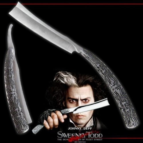 Straight razor and tattoos and body art on pinterest for Sweeney todd tattoo