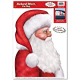 Santa Backseat Driver Car Cling Party Accessory (1 count) (1/Sh)