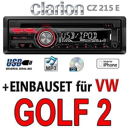 VW golf 2-clarion cZ215E-autoradio mP3/uSB avec kit de montage