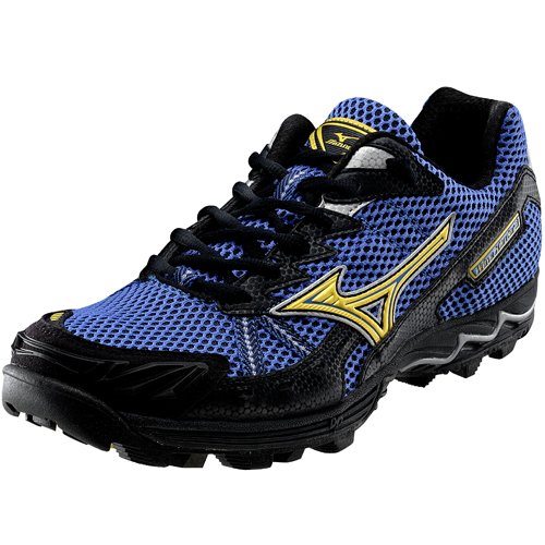MIZUNO Wave Harrier 3 Unisex Trail Running Shoes, Blue/Yellow, UK11.5