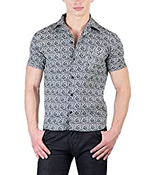 Hypernation Floral Printed Half Sleeves Causal Shirts For Men
