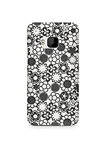 Amez designer printed 3d premium high quality back case cover for HTC One M9 (Pattern 9)