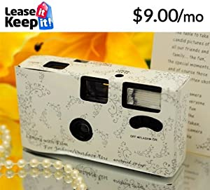 20 Silver LACE Wedding Disposable Cameras Favors 27 exp