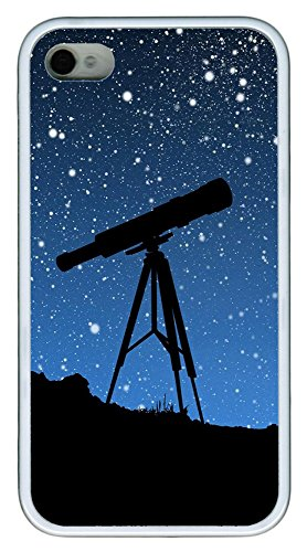 Iphone 4 4S Case Sky Telescope Tpu Custom Iphone 4 4S Case Cover White