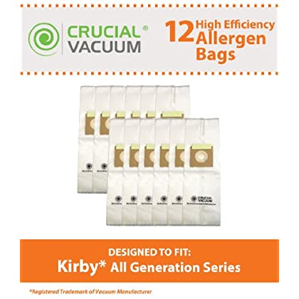 Price Reviews 12 Efficiency Allergen Filtration Cloth Bags Fits All Kirby Generations, G3, G4, G5, G6, Ultimate G, Sentria,...