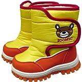 アスナロ(サンダル・ブーツ) ブーツ ベビー 子供 ズーミック ボア使い スノーブーツ 冬靴15cm くま-黄