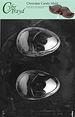 Cybrtrayd E123 Medium Hollow Egg Chocolate/Candy Mold with Exclusive Cybrtrayd Copyrighted Chocolate Molding Instructions