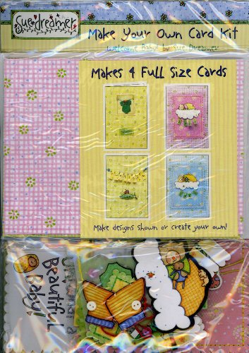 Sue Dreamer Welcome Baby Greeting Card Kit, Makes 4 Full Size Cards