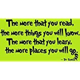 Dr Suess, The More That You Read, The More Things You Will Know, The More That You Learn, The More Places You...